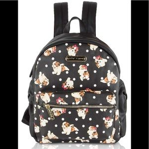 Betsey Johnson puppy backpack